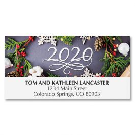 2020 Dated Wreath Deluxe Address Labels