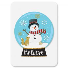 Snowglobe Christmas Cards - Personalized