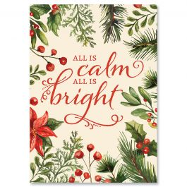 All Is Calm Christmas Cards - Personalized