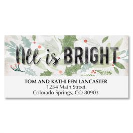 Diecut Holiday Cross Deluxe Address Labels