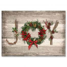 Rustic Joy Christmas Cards - Personalized