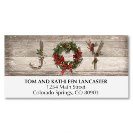 Rustic Joy Deluxe Address Labels