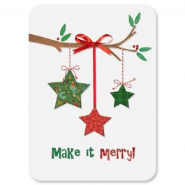 Star Ornaments Christmas Cards - Personalized
