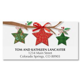Star Ornaments Deluxe Address Labels