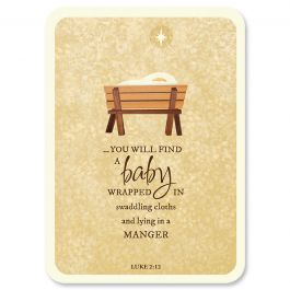 Diecut Manger Christmas Cards - Personalized