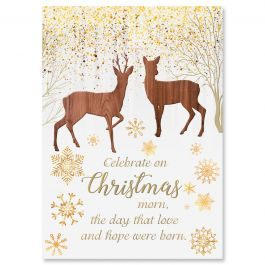 Reindeer Woods Christmas Cards - Personalized