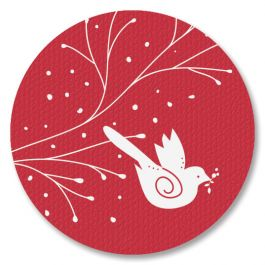 Diecut Winterbirds Faith Seals