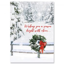 Fields of Snow Faith Christmas Cards - Personalized