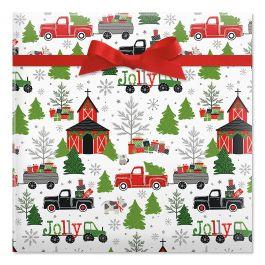 Joyful Haul Jumbo Rolled Gift Wrap