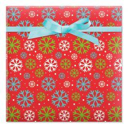 Just Fun Flakes Jumbo Rolled Gift Wrap