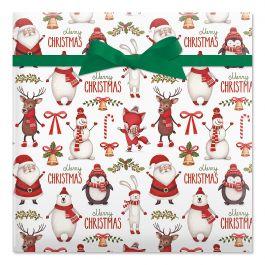 Winter Friends Jumbo Rolled Gift Wrap