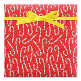 Candy Cane Joy Jumbo Rolled Gift Wrap