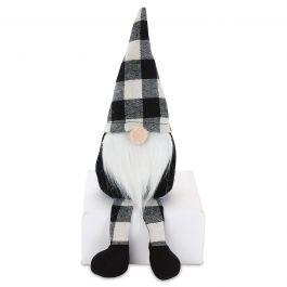 Black Plush Gnome Shelf Sitter