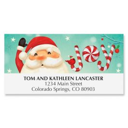 Candy Cane Santa Deluxe Address Labels