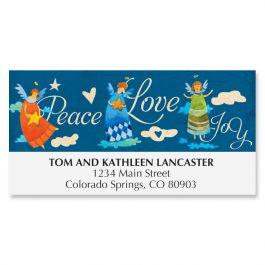 Peace Love Joy Deluxe Address Labels