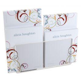 Fantasia Personalized Notepad Set & Acrylic Holder