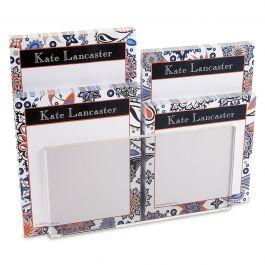 Color Paisley Personalized Notepad Set & Acrylic Holder