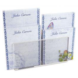 Exotic Prints Personalized Notepad Set & Acrylic Holder