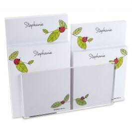 Ladybugs Personalized Notepad Set & Acrylic Holder