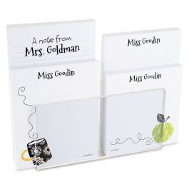 Teacher Personalized Notepad Set & Acrylic Holder