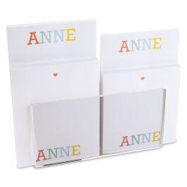 Alphabet Personalized Notepad Set & Acrylic Holder