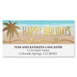 Holiday Palms Deluxe Address Labels