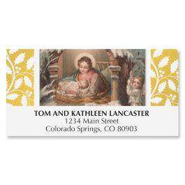 Vintage Nativity Deluxe Address Labels