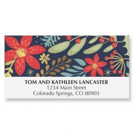 Floral Border Deluxe Address Labels