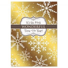Sparkle Shine Deluxe Christmas Cards - Personalized