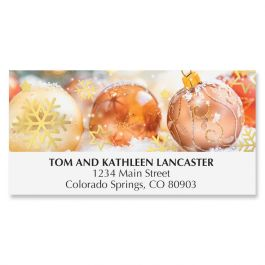 Shiny Ornaments Deluxe Address Labels