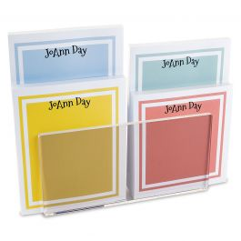 Color Trend Personalized Notepad Set & Acrylic Holder