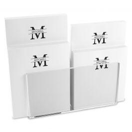 Front & Center Personalized Notepad Set & Acrylic Holder