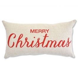 Merry Christmas Holiday Decorative Pillow