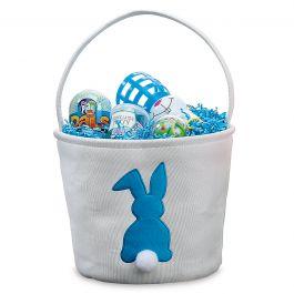 Fabric Bunny Bucket Blue