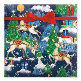 Reindeer Fantasy Jumbo Rolled Gift Wrap