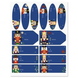 Nutcrackers Gift Wrap To/From Labels