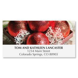 Sparkling Ornaments Deluxe Address Labels