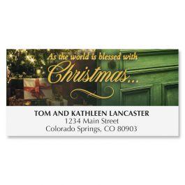 Christmas Door Deluxe Address Labels