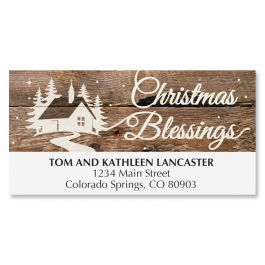 Wishes on Wood Deluxe Address Labels