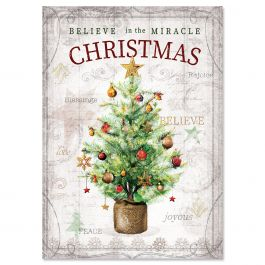 Tiny Tree Christmas Cards - Personalized