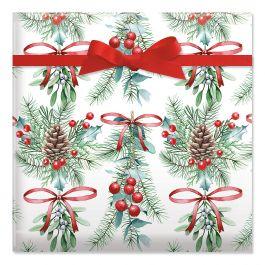 Under the Mistletoe Jumbo Rolled Gift Wrap