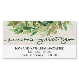 Gold Wreath Deluxe Address Labels