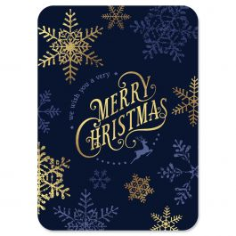 Snowflake Deluxe Christmas Cards - Nonpersonalized