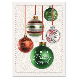 Ornament Holiday Christmas Cards - Nonpersonalized