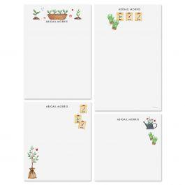 Garden Motifs Personalized Notepads
