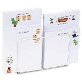 Garden Motifs Personalized Notepad Set & Acrylic Holder