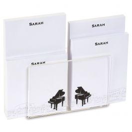 Piano Personalized Notepad Set & Acrylic Holder