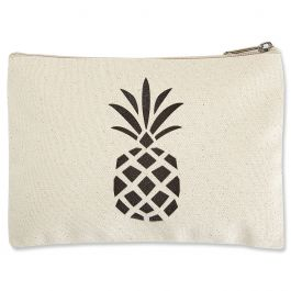 Pineapple Zippered Pouch - Small