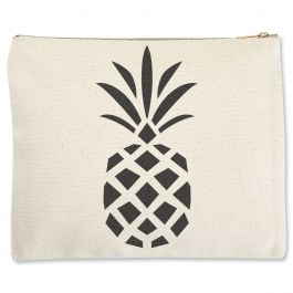 Pineapple Zippered Pouch - Large