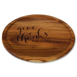 Excellent Give Thanks Personalized Acacia Wood Lazy Susan Machost Co Dining Chair Design Ideas Machostcouk